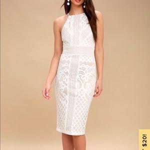Lulus primrose bodycon midi dress